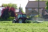 Cutting Graham Lark's field off Pymoor Lane, Pymoor, 2010.
