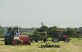 Baling the hay on Graham Lark's field off Pymoor Lane, Pymoor.