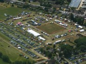 Aerial view of the Pymoor Show.. Pymoor Show 2009