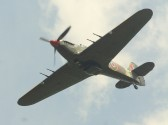 A WW II Hawker Hurricane fighter plane PZ865 (MK IIc) flies over the Pymoor Agricultural & Country Show 2010