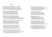 Hymn sung at the funeral of Ena Barker of Oxlode & Pymoor at the Pymoor Methodist Chapel, Main Street Pymoor.