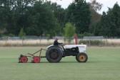 Michael Saberton cutting the Pymoor Cricket Club field, Pymoor Lane, Pymoor, 2010.