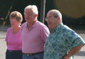 Joan & Alan Butcher of Pymoor with Ron Hart of Little Downham at the 'Good Companions' Annual Potato Weighing Competition 2010.