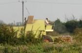 Eric Barker on his combine harvester in a field off Pymoor Lane, Pymoor.