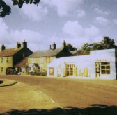 Barker's Garage and Shop in Main Street, Pymoor, near the crossroads (circa 1967).