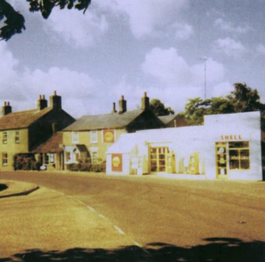 Barker's Garage and Shop in Main Street, Pymoor, near the crossroads (circa 1967).