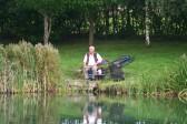 Roger Parson Memorial Charity Fishing Match 2010, Oxlode Lakes, Oxlode, Pymoor. Eric Barker fishing.
