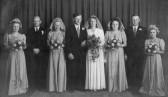 Wedding of  Les Barker & Brenda Dewsbury of Pymoor, 1945.