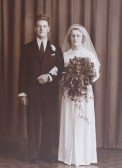 The Wedding of Algie and Ivy Rogers of Pymoor, 1939.