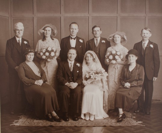 The Wedding of Horace Brown and Florence Hard.