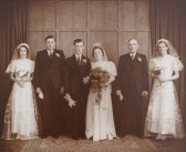 The Wedding of Eric Fenn and Nora Butcher of Pymoor, circa 1940