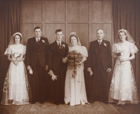 The Wedding of Eric Fenn and Nora Butcher of Pymoor, circa 1940