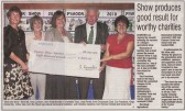 Article in the Ely Weekly News about the Pymoor Agricultural & Country Show Charity Cheque Presentation Night held at the Pymoor Cricket Club 2010.