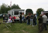 Gathering for the prize giving at the Roger Parson Memorial Charity Fishing Match 2009.