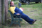 Dale Parson relaxes after the Roger Parson Memorial Charity Fishing Match 2010.