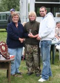 Cynthia Parson presents the prizes at the Roger Parson Memorial Charity Fishing Match 2010.