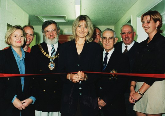 Opening of the new Changing Rooms at the Pymoor Cricket and Social Club, Pymoor, dedicated to the memory of Ann & Alan Golding, 1998.