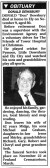 Obituary notice in the Ely Standard to Don Dewsbury who lived in Pymoor. He passed away on November 9th, aged 80.