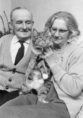 Horace & May Hard (nee Saberton) of Pymoor,at the time of their Golden Wedding, 1971