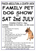 A Family Pet Dog Show was held at the Pymoor Agricultural & Country Show  on Saturday 2nd July 2011.