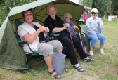 Cynthia Parson, Alocha Barker, Joan Saberton & Rosemary Davis at the Oxlode Lakes Charity Fishing Match, Pymoor 2011.