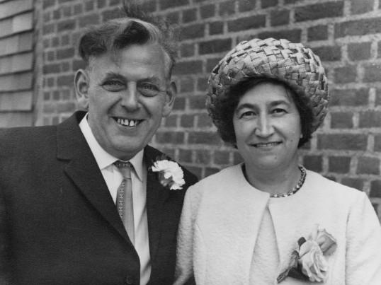 Charles and Ida Sulman of Pymoor, 1972.