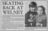 Article in the Ely Standard about a new skating club formed at Welney. Tina Parson & Elizabeth Taylor of Pymoor won two of the races 1986.