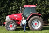 Pam Farrell of Pymoor poses for the Pymoor Archive Group's 2010 'Tractor Ladiies' Calendar.