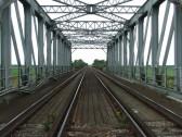 Iron railway bridge over the Hundred Foot River, Pymoor 2007.
