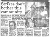 Article in the Cambridgeshire Evening News about life in Pymoor during the period of Union unrest in Britain.