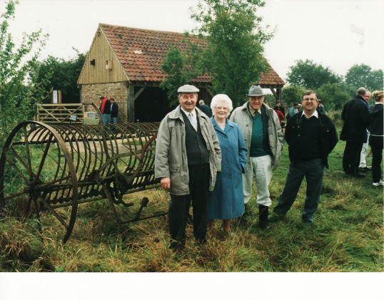 Pymoor Parish Councillors at the opening of the Cartshed in Little Downham.