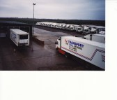 TJ Transport Lorry Fleet at Willow Farm, Pymoor, 2002.