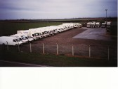 TJ Transport Lorry Fleet at Willow Farm, Pymoor.