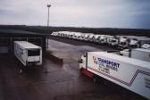 TJ Transport Lorry Fleet at Willow Farm, Pymoor.