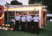 Firemen at the Pymoor Show 2002