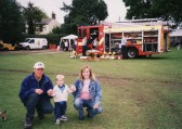Nick & Karen Bateman with their son Josh at the Pymoor Show 2002