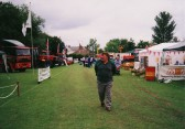 Chas Saberton at the Pymoor Show 2002.