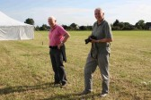 Alan Butcher & Roger Davis on the Pymoor Show Ground field 2012.