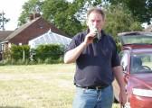Simon Hobbs on the Pymoor Show Ground off Pymoor Lane, Pymoor 2012.