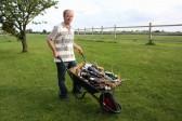 Chris Baker won the 'Wheelbarrow of Booze' in the Pymoor Social Club Raffle.