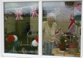 Joan Saberton looks out on to the preparations for the Pymoor Show.