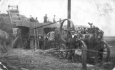 Threshing at Laurel Farm, Main Drove, Pymoor 1913