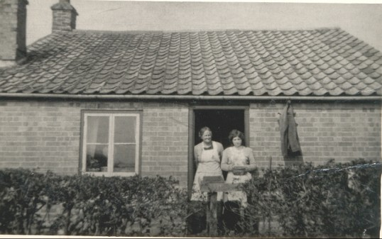 Elizabeth and Betty Heaps in Pymoor.. Elizabeth & Betty Heaps