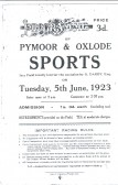 Programme of the Pymoor and Oxlode Sports Day 1923.