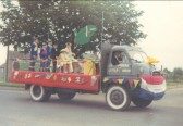 Pymoor Carnival float (Thunderbirds are go!). Reminiscences of the Pymoor Carnivals
