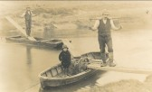 Crossing the Hundred Foot river (New Bedford river) at Pymoor. . Going over the Hundred Foot River to milk the cows on the..