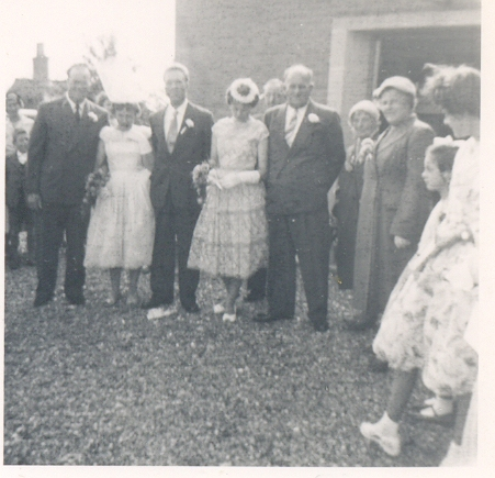 Wedding of Joyce Stevens and Don Cobden at the Pymoor Methodist Chapel, Pymoor.. Methodist Chapel, Pymoor.