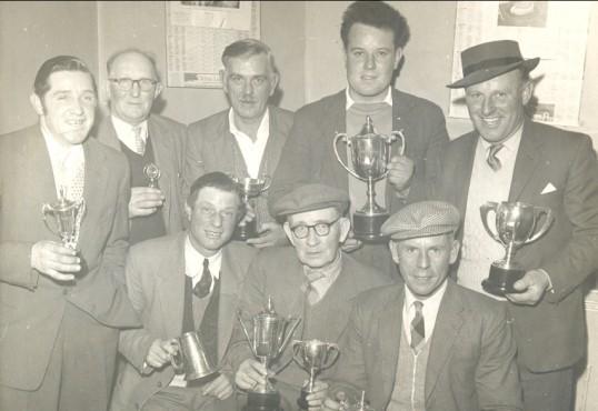Fishing Presentation at the Pymoor Social Club, circa 1965.