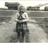 Gail Saberton in Main Street, Pymoor. . This photo was taken standing in front of the council..