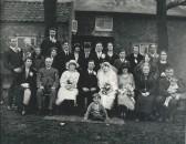 Wedding of James Martin Wilkin and Susan Hannah Taylor of Pymoor, 1922.